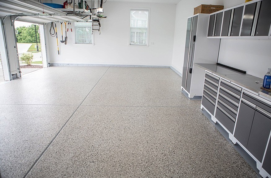 How to clean your epoxy garage floor decorative concrete for Garage floor maintenance